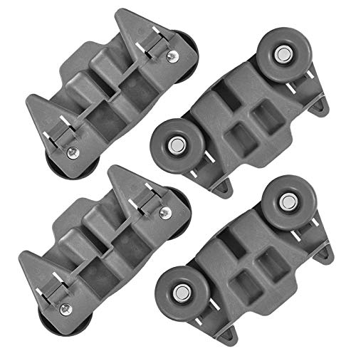W10195416V W10195416 Dishwasher Wheels Lower Dish Rack Wheel with Steel Screws by AMI, Replaces W10195416VP, W10195416V,4245021,AP4567523,EAP11722152,PS11722152