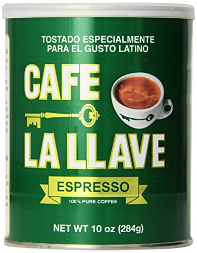 Caf La Llave Espresso 100% Pure Coffee, Dark Roast Espresso (10-ounce can)