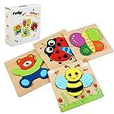 Felly Jouet Bebe - Puzzles en Bois, Jouets Montessori Enfant 1 2 3 4 Ans,...