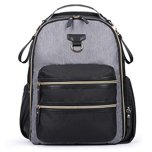 mommore Diaper Backpack Wash-Free Diaper Bag Baby Nappy Bag, Grey