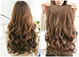 2013 Hot Fashion 22' Curly Clip in Hair Extensions Hairpiece 1 Pcs Light Brown