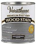 Varathane 269394 Premium Fast Dry Wood Stain, 32 oz, Weathered Gray