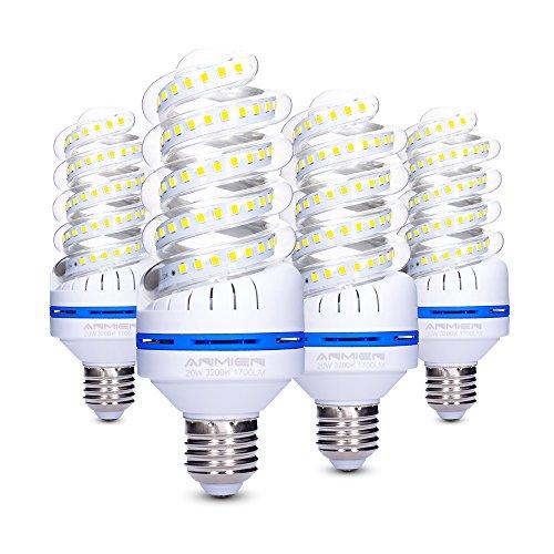 Lampadina LED E27 20 W (150 W Equivalen lampada LED), Luce Bianca Calda 3200K, 360 Gradi Angolo del...