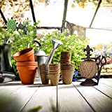 Relaxdays antik, Gusseisen, Fadenhalter mit Schere & Pflanzschnur, Garten Deko, Dunkelbraun Schnurhalter, - 2