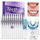 Teeth Whitening Kit, Y.F.M Professional Home Whitening Teeth Kit, 11pcs Teeth Whitening Gel, 2pcs Soothing Gel, 5X LED Light Tooth Whitener, 10 Min Non-Sensitive Fast Teeth Whitener