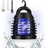 AMBOTHER Lampe Anti Moustique Electronique UV LED 500V Efficace 90m² Répulsif Moustique Tueur Etanche IP67 Pièges à Insectes 3 Elairage Chargé par USB 2 en...