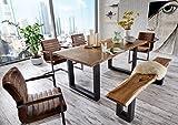 SAM Stilvoller Esszimmertisch Quentin 180×90 cm aus Akazie-Holz Tisch mit schwarz lackierten Beinen - 2