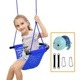 Kids Swing,Swing Seat Tree Heavy Duty Rope Play Secure Children Swing Set for Indoor/Outdoor/Playground/Home/Tree with Snap Hooks and Swing Straps,Suit for 2 to 12 Years