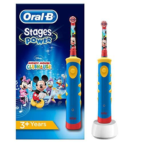 Oral-B Stages Power Spazzolino Elettrico Ricaricabile per Bambini con Topolino della Disney Oral-B Stages Power, con 1 Manico e 1 Testina