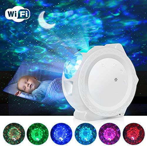 Lampada Proiettore Stelle Bambini, ESHUNQI 3 IN 1 Proiettore Stelle Soffitto con 6 Colori, Funzione...