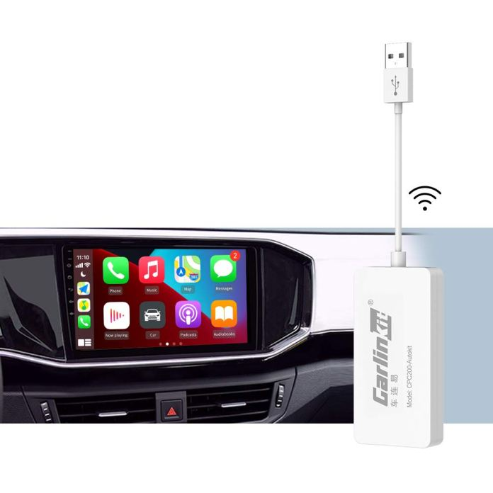 Amazon Com Carlinkit Wireless Carplay Dongle Wired Android Auto Usb Dongle Compatible Car Machine Is The Android System Version 4 4 2 Or Above Mirror Screen Ios 13 14 Online Upgrade Dongle Google Waze Maps Gps Navigation