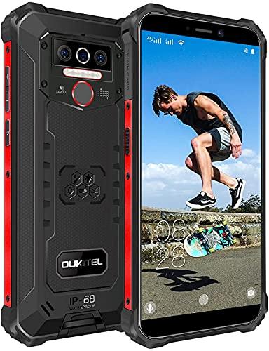 Móvil Libre Resistente OUKITEL WP5 Pro 4GB+ 64GB,8000mAh Batería Android 10 Smartphone IP68 Robusto,Dual Sim 4G Impermeable Rugged Telefono Movil,5.5'' HD+,Triple Cámara,4 LED...