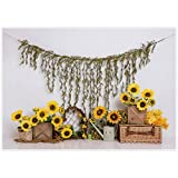 Allenjoy 7x5ft Autumn Sunflower Photography Backdrop Supplies for Newborn Kids Baby Shower 1st Birthday Party Decors Customizable Studio Cake Smash Portrait Pictures Photoshoot Props Favors Banners
