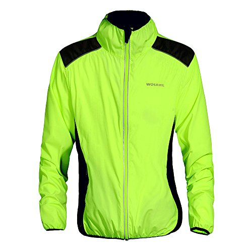 WOSAWE Fahrradjacke für Herren Damen wasserdichte Ultraleichte Sportbekleidung mit Reflektierendem für Radfahren, Laufen, Wandern, Bergsteigen XXL