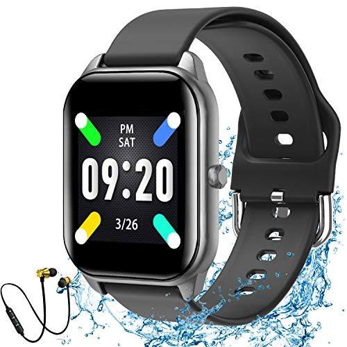 Novel TT Reloj Inteligente Mujer y Hombre Pulsera Actividad Fitness Tracker Podómetro Monitor de Sueño Contador 1.4 Inch Bluetooth Smartwatch Rastreador de Actividad con para Android y iOS (Negro)