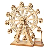 ROBOTIME 3D Wooden Puzzle Toy Wood Craft Building Kits Best Model Kit Great Gifts for Girls and Women(Ferris Wheel)