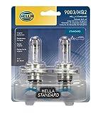 HELLA 9003TB Standard-60/55W Standard Halogen 9003 Bulbs, 12 V, 60/55W, 2 Pack