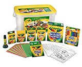 Crayola Super Art Coloring Kit, Tub Colors Vary, Amazon Exclusive, 100+ Pcs, Gift for Kids (Toy)