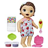 Baby Alive Super Snacks Snackin' Lily Baby: Brunette Baby Doll That Eats, with Reusable Baby Alive Doll Food, Spoon and 3 Accessories, Perfect Doll For 3 Year Old Girls and Boys And Up (Amazon Exclusive)