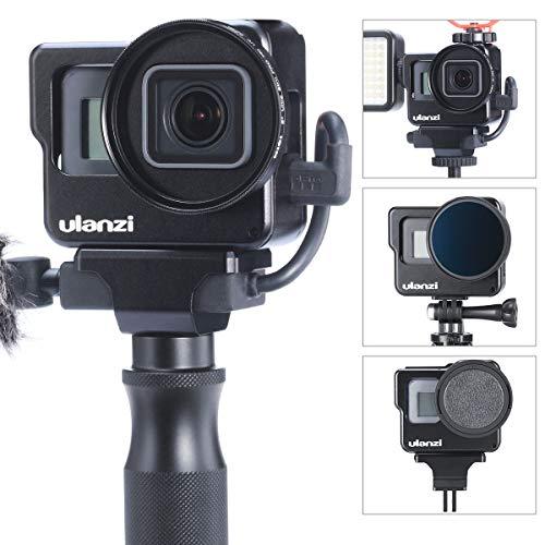 Custodia Vlogging in lega di alluminio ULANZI V3 per Gopro, Custodia protettiva Telaio montato a conchiglia per Gopro Hero 7 6 5 Vlog Setup Accessori