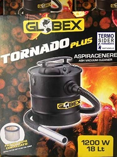 Bidone Aspiracenere Globex Tornado Plus 18 LT 1200W IDEALE X STUFE CAMINI E BBQ