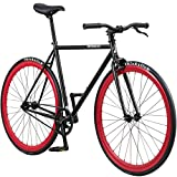 Pure Fix Original Fixed Gear Single Speed Bicycle, Echo Black/Red, 47cm/X-Small