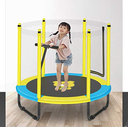 JIYU Fitness Trampoline Children/Toddler, Rebounder Trampoline with Handrail Fence Exercise Trampoline for Adults Kids Indoor/Outdoor Home Gym Equipment - Max Weight 200kg 7