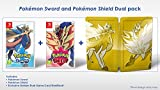 Jaquette en anglais, jouable en français The Dual Edition includes Pokemon Sword, Pokemon Shield and the Exclusive Golden Dual Game Card Steelbook.