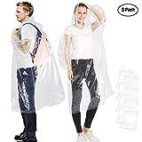 Songwin Poncho Pluie,Imperméable Portable avec Capuches et Manches,Transparent Poncho Femme et...