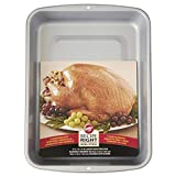 Wilton Recipe Right Non-Stick Roasting Pan, Excellent for Turkeys, Roasts, Chickens and Hams, A Must Have for Everyday Use and Holidays, 17 x 13-Inch