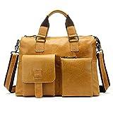 Briefcase Business Computer Laptop Case Shoulder Messenger Bag Handbag Leather Men