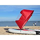 Dyna-Living Kayak Sail,42' Durable Downwind Wind Sail Sup Paddle Board Instant Popup for Kayak Boat Sailboat Canoe Foldable Style (Red)