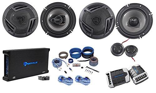 Rockville RV65.2C 6.5' Component+Coaxial Car Speakers + 5-Ch Amplifier + Amp Kit