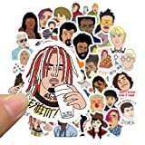 BLOUR 50 Piezas Hip Hop Rapper DJ Graffiti Style Stickers en el teléfono móvil Laptop Equipaje Maleta Guitar Case Skateboard Bike Stickers