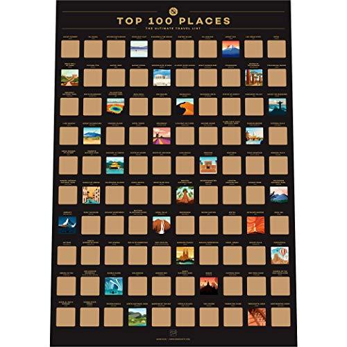 Affiche à gratter Enno Vatti de 100 lieux - Liste des Meilleures...