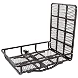 Apex Hitch-Mounted Steel Cargo Carrier with Ramp - 500 lb. Capacity