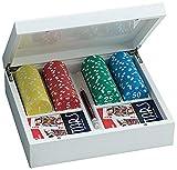 Juego JU00065 - Set de Poker Giunevere con 100 fichas, incluye cartas Poker 100% plástico y lapíz