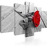 decomonkey   Impression sur Toile intissée Fleurs Rose Rouge 200x100 cm   5...
