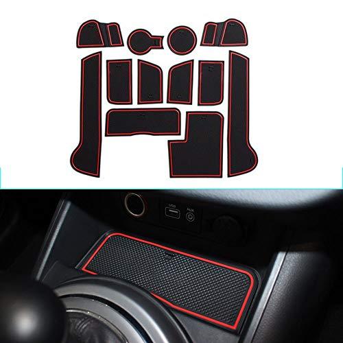 Muchkey Pacco da 12 Custom Fit Cup, Door e Center Console Liner Accessori Per 2011-2016 Sportage,...