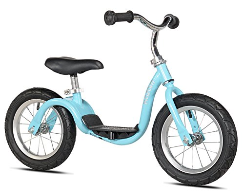 KaZAM v2s No Pedal Balance Bike, 12-Inch, Metallic Light Blue