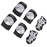 BOSONER Kids/Youth Knee Pad Elbow Pads Guards Protective Gear Set for Roller Skates Cycling BMX Bike Skateboard Inline Skatings Scooter Riding Sports, Wrist Guards Toddler for Multi-Sports Outdoo