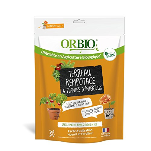 OR BRUN Terreau Rempotage et Plante d'Intérieur, Orange, 3 L