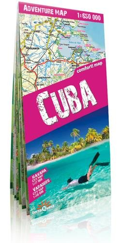 Cuba, mapa de carreteras plastificado. Escala 1:650.000. TerraQuest. (Adventure Map)