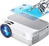 Vidéoprojecteur WiFi Bluetooth, 6000 Lumens Mini Projecteur Supporte 1080P Full HD,VicTsing Vidéo Pico Projecteur avec 200' Display, Retroprojecteur Portable Compatible TV Stick PS4 HDMI VGA USB SD AV