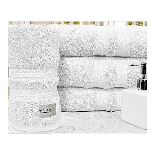 Toalha de Banho Buddemeyer , 100% Algodão Egípcio, Fio Penteado, Gramatura: 550g/m² Branco