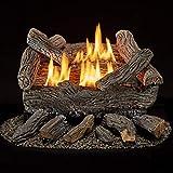 Bluegrass Living B18NR-UL1 Vent Free Natural Gas Log Set-18 Inch Traditional Oak, 30,000 BTU, Remote Control