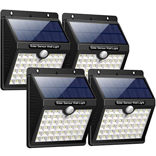 Luce Solare Led Esterno,180 Super luminoso-4 PezziiPosible 46 LED Lampada Solare Esterno Luci Solari...