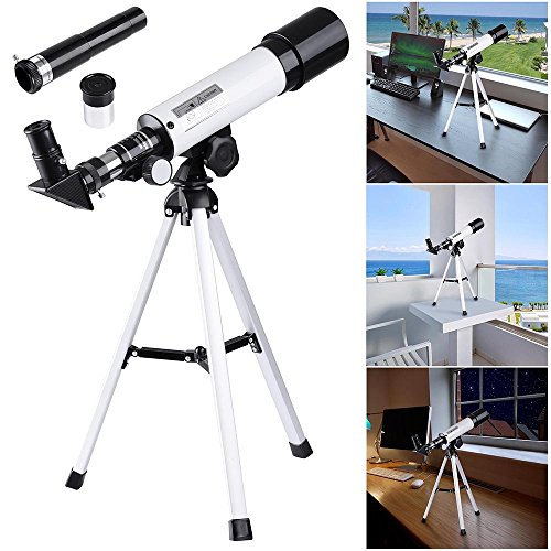 AW 50mm Kid Beginner Astronomical Refractor Telescope Refractive Spotting Scope Tripod Observation Astronomy Travel Camp