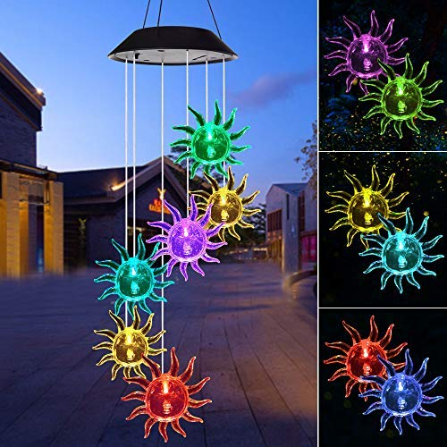 ShangTianFeng Wind Chime,Solar Lights Chimes Outdoor,Sun...