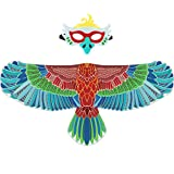 D.Q.Z Kids Eagle-Wings Bird Costume and Mask for Boys Girls Halloween Dress Up (Blue)
